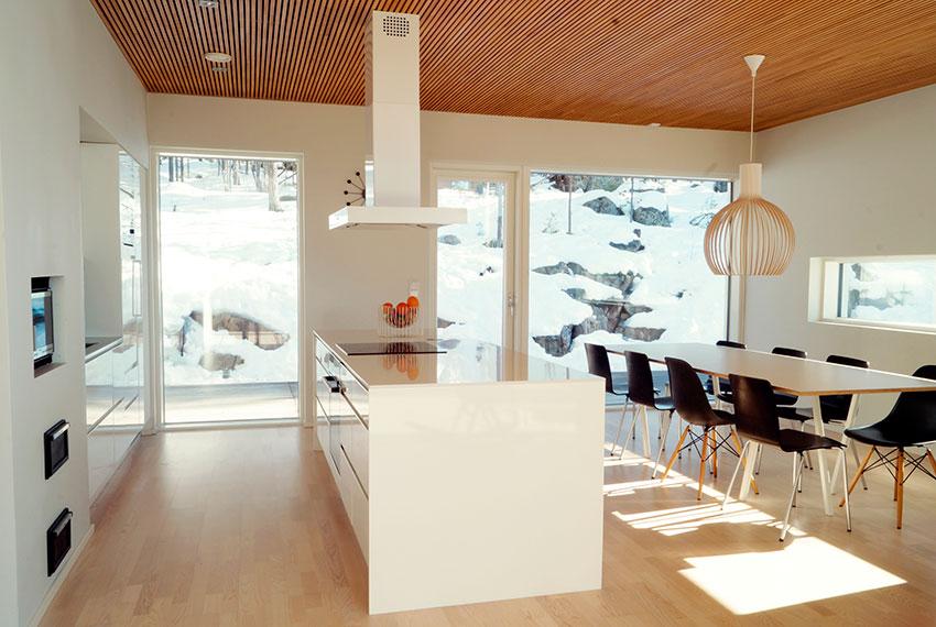 Moderni paritalo Jyväskylä-Muurame alueelta.